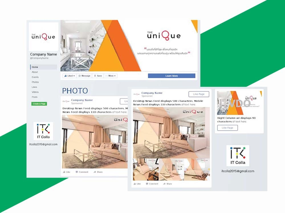 the unique บ้าน โคราช facebook marketing itcolla